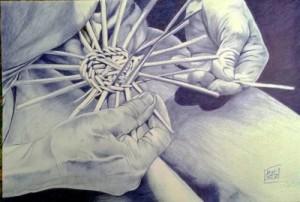 mani che intrecciano